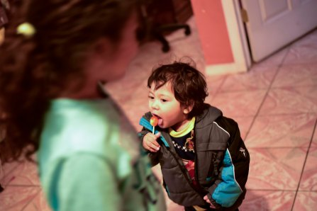 Salvadoran children at their new home on Long Island after fleeing violence last summer.