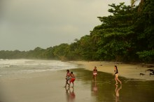 Cahuita, Costa Rica in late afternoon.